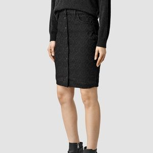 Allsaints Comely Embroidered skirt